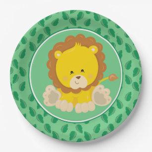 Safari Animals | Baby Lion Paper Plate  sc 1 st  Zazzle & Lion Plates | Zazzle