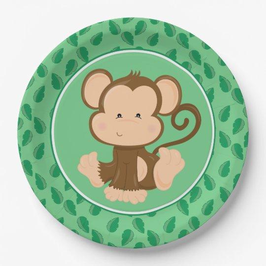 Safari Animals | Baby Monkey Paper Plate  sc 1 st  Zazzle & Safari Animals | Baby Monkey Paper Plate | Zazzle.com