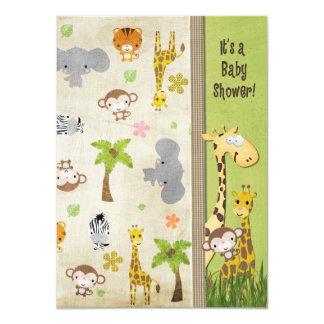 Safari Animals Baby Shower Card