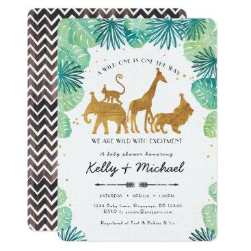 Toddler & Baby themed Safari Animals Baby Shower Invitation