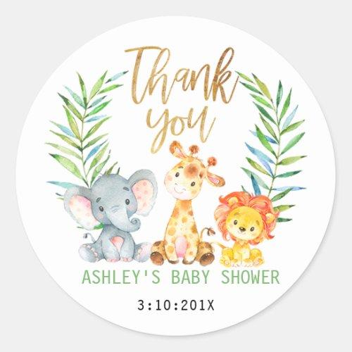 Safari Animals Baby Shower Sticker