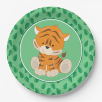 Safari Animals | Baby Tiger Paper Plate
