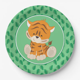 Safari Animals | Baby Tiger Paper Plate  sc 1 st  Zazzle & Baby Tiger Plates | Zazzle