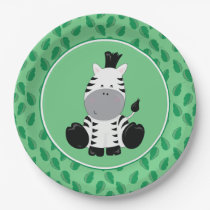 Safari Animals | Baby Zebra Paper Plate