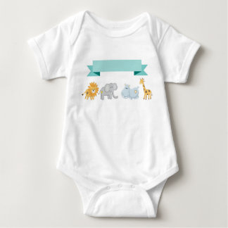 Safari Animals Banner Baby Body Suit T Shirt