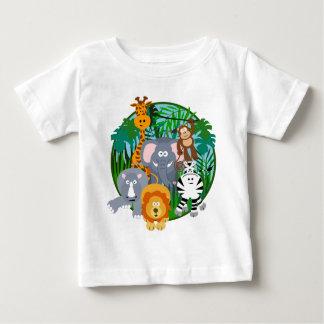 Safari Animals Cartoon Baby T-Shirt