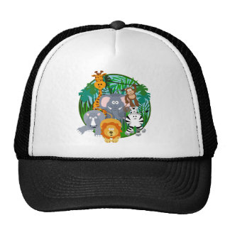 Safari Animals Cartoon Trucker Hat