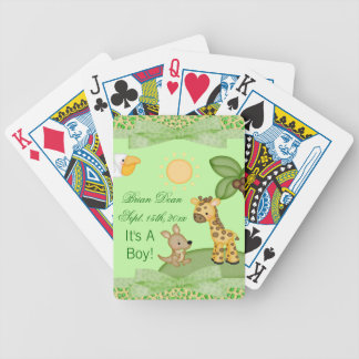 Safari Animals Cheetah Print Baby Shower Bicycle Playing Cards