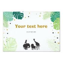 Safari Animals Jungle zoo Insert card Birthday