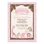 Safari Animals Pink Girl Baby Shower Invitations