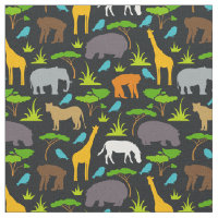 Safari Animals Print Fabric