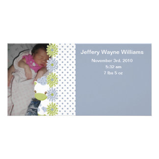 Safari Babiez Birth Announcement-Boy Card