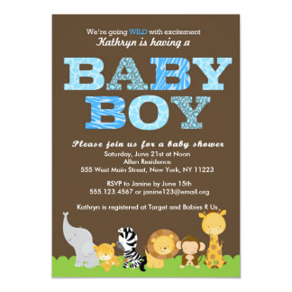 boy baby shower invitations & announcements | zazzle, Baby shower invitations