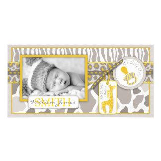Safari Baby Photo Card