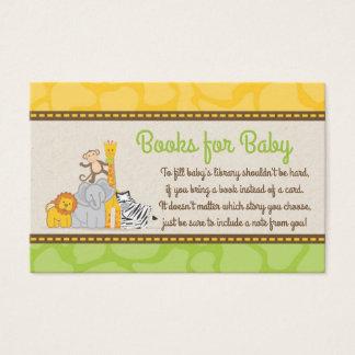Safari Baby Shower Bring a Book Card