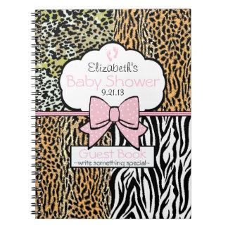 Safari Baby Shower Guest Book- Spiral Notebooks