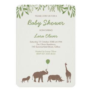Lovely Safari Baby Shower Invitation