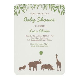 Elegant Safari Baby Shower Invitation