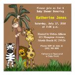 """Safari Baby Shower Invitation 5.25"""" Square Invitation Card"""