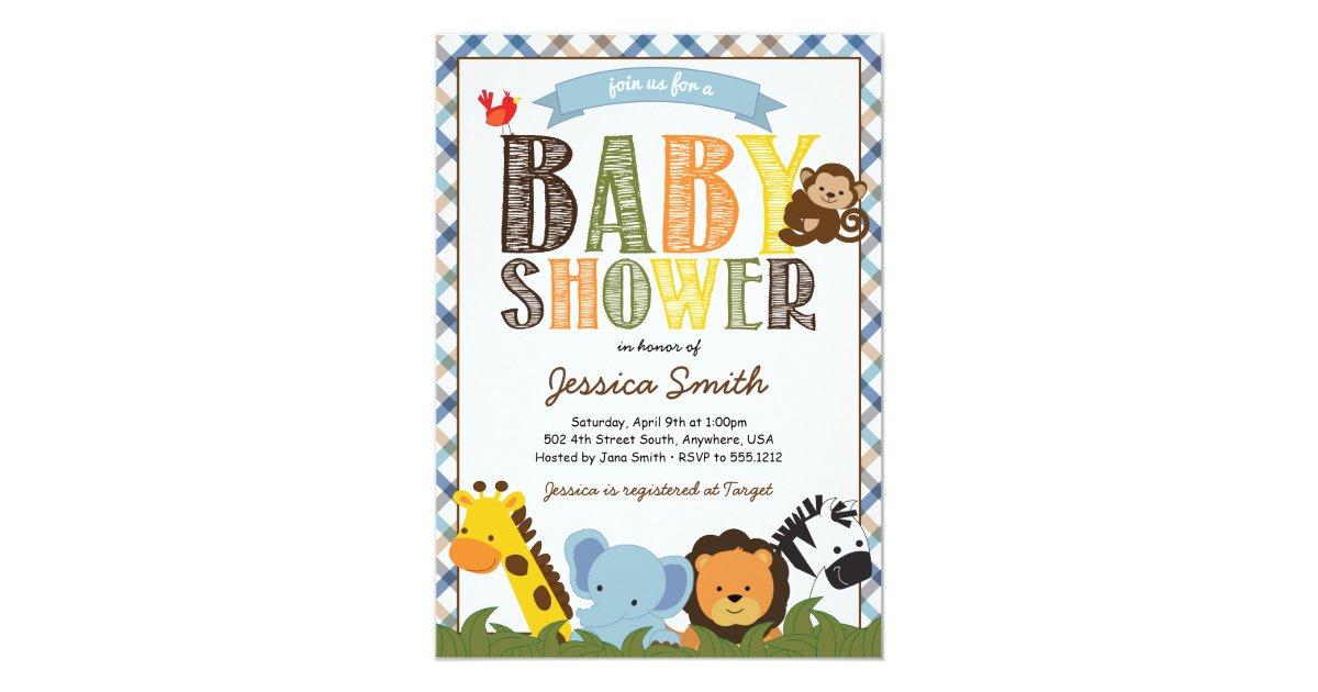 Safari Baby Shower Invitation | Zazzle.com