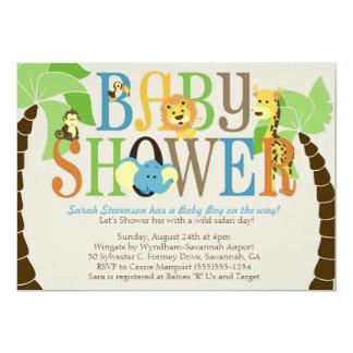 SAFARI Baby Shower Invitations - BOY