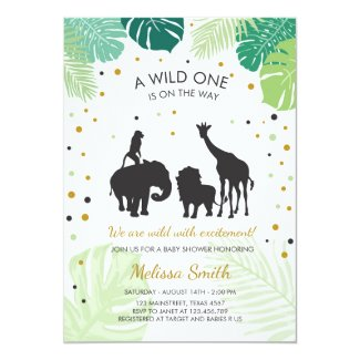 Safari Baby shower invite Zoo Wild Jungle animals