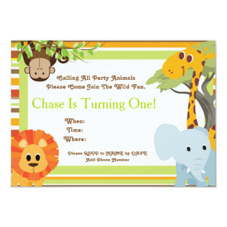 Safari Baby Shower or Birthday Party Invitations