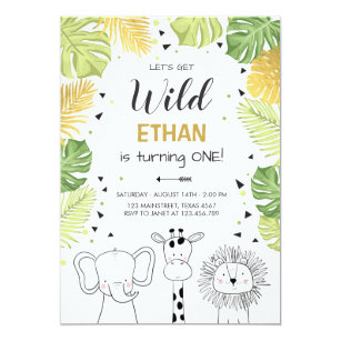 Zoo invitations announcements zazzle safari birthday invitation zoo wild jungle animals stopboris Gallery