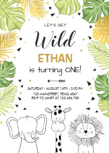 Zoo Invitations Zazzle
