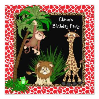 Safari Birthday Party Customized Invitation Card