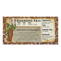 Safari Boarding Pass Card