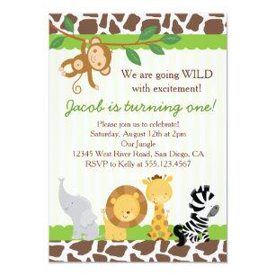 safari party invitations zazzle