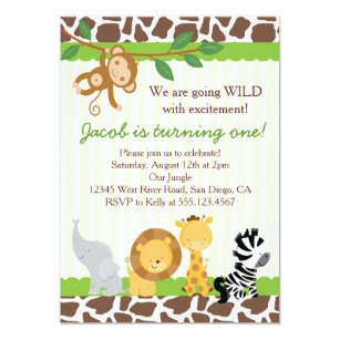 Safari 1st birthday invitations announcements zazzle safari boy 1st birthday party invitation filmwisefo
