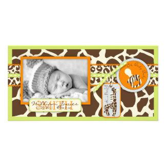 Safari Boy Green Photo Card