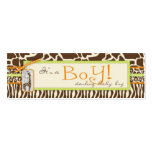 Safari Boy Green Skinny Gift Tag Double-Sided Mini Business Cards (Pack Of 20)