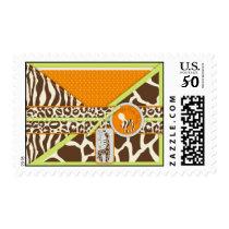 Safari Boy Green Stamp