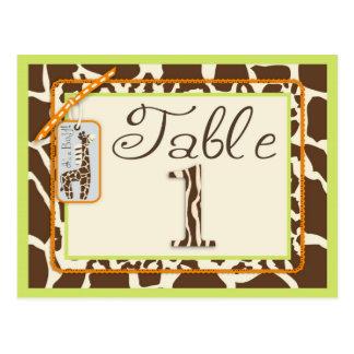 Safari Boy Green Table Postcard 1