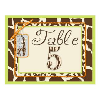 Safari Boy Green Table Postcard 5