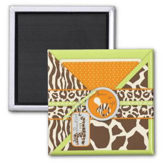 Safari Boy Green TY Magnet