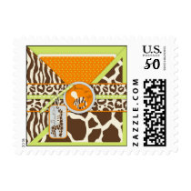 Safari Boy Green TY Stamp B