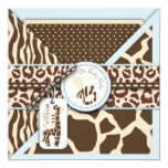 """Safari Boy Invitation Square_bpimentel 5.25"""" Square Invitation Card"""