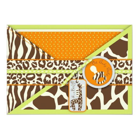 Safari Boy LGR Invitation Card 2
