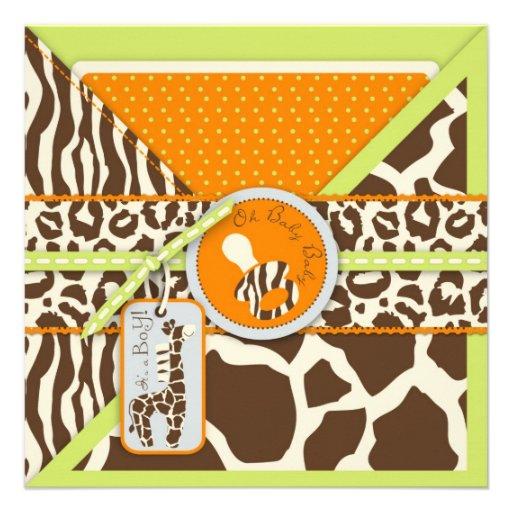 Safari Boy LGR Invitation Square