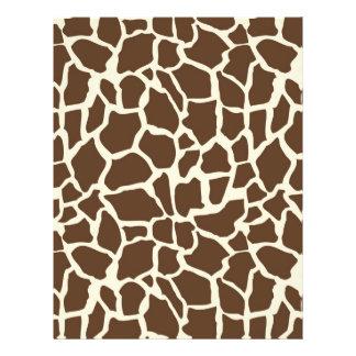 Safari Boy O Dual-Sided Paper Giraffe A Full Color Flyer