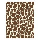 """Safari Boy O Dual-Sided Paper Giraffe B 8.5"""" X 11"""" Flyer"""