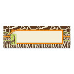 Safari Boy Orange Skinny Gift Tag 2 Double-Sided Mini Business Cards (Pack Of 20)