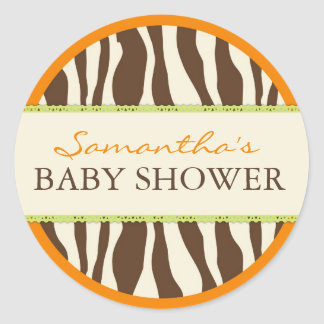 Safari Boy Orange Sticker ZEB