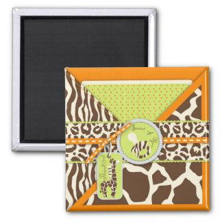 Safari Boy Orange TY Magnet