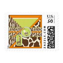 Safari Boy Orange TY Stamp B