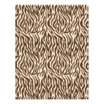 Safari Boy Scrapbook Paper Zebra Custom Letterhead